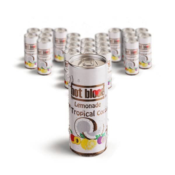 24 x Hot Blood Lemonade Tropical 330ml