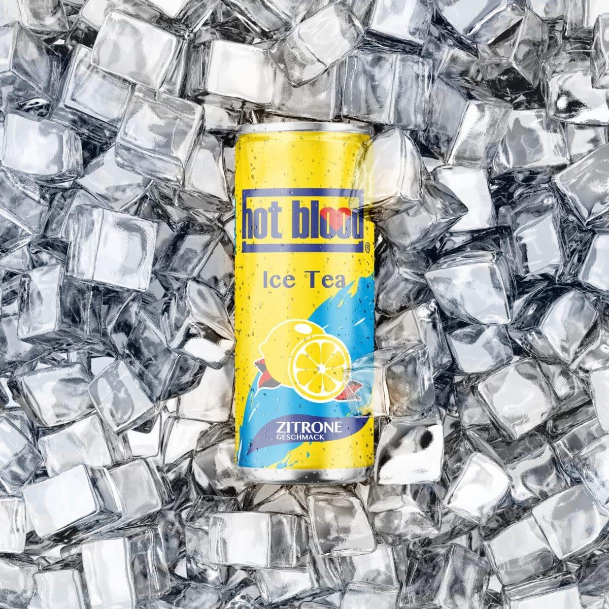 Hot Blood Ice Tea Zitrone 330ml