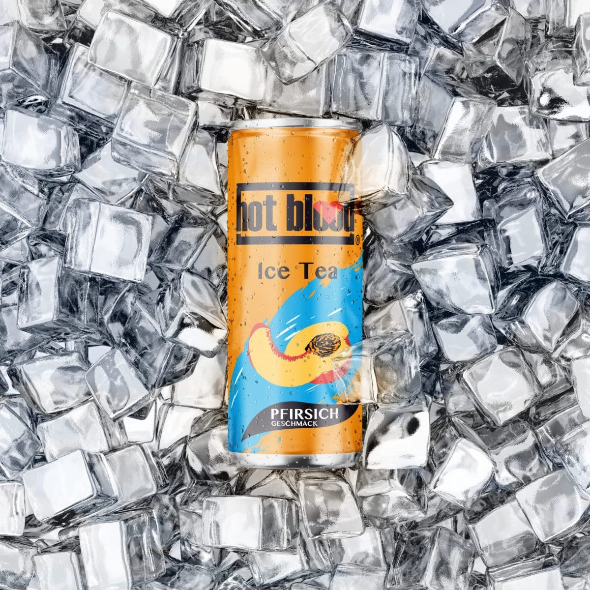 Hot Blood Ice Tea Pfirsich 330ml