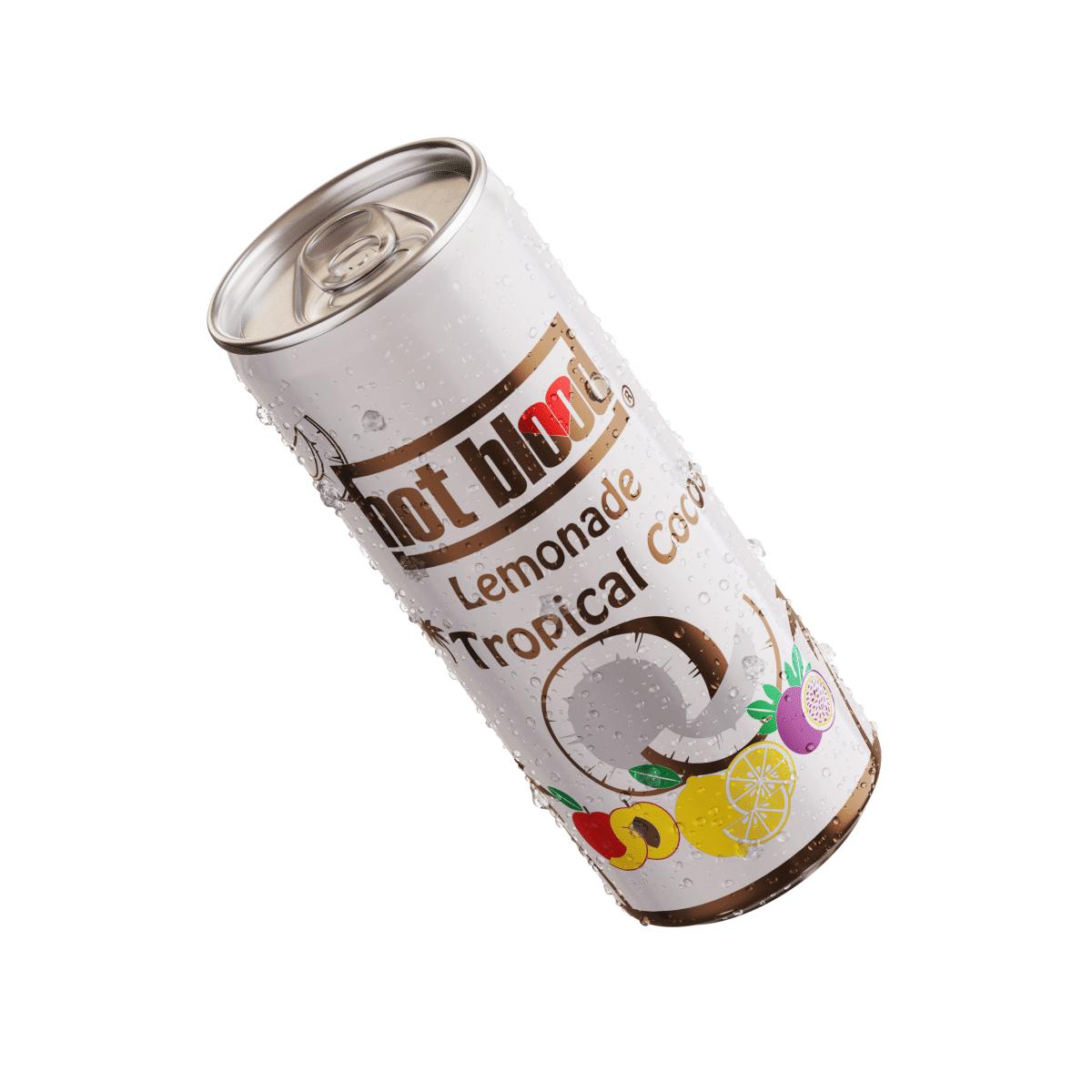 24 x Hot Blood Lemonade Tropical Cocos 330ml